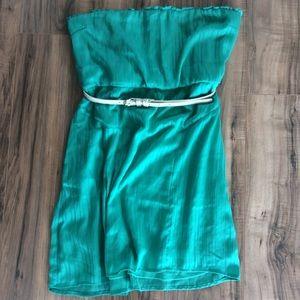 EUC Volcom Turquoise Strapless Dress Size XL